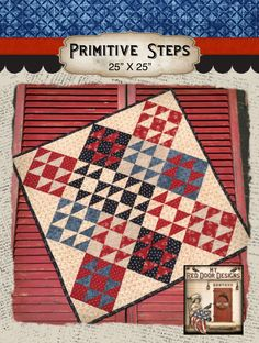 Primitive Steps Finished quilt by myreddoordesigns on Etsy