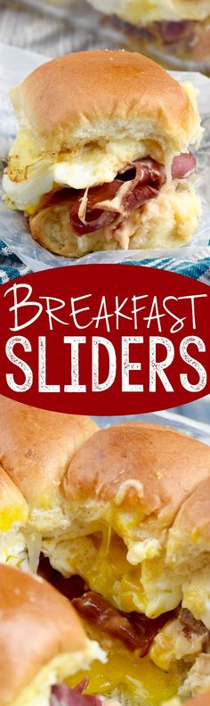 These Breakfast Sliders are gooey, delicious, and perfect for feeding a crowd! These Breakfast Sliders are gooey, delicious, and perfect for feeding a crowd! Breakfast And Brunch, Breakfast Slider, Breakfast Dishes, Best Breakfast, Breakfast Recipes, Breakfast Ideas, Breakfast Casserole, Breakfast Burritos, German Breakfast