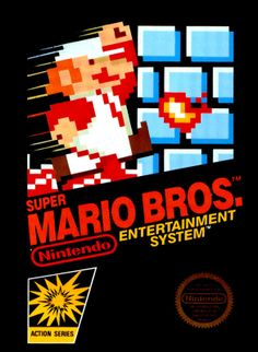 "Box art for the original ""Super Mario Bros."", Shigeru Miyamoto's seminal platformer released by Nintendo for the Nintendo Entertainment System in 1985"