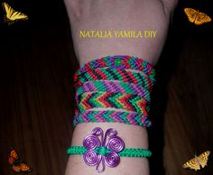 Pulseras / brazaletes artesanales de hilo encerado en macrame Handmade macrame bracelets DIY