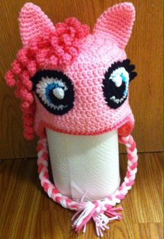 My little pony crochet hat pinky pie by OdinHypatia on Etsy, $25.00