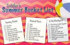 The Calendar Moms Toddler Summer Bucket List