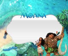 stickers moana - etiquetas moana - imprimibles moana - moana imagenes marcos