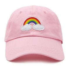 Forever21 Rainbow Patch Graphic Cap (42 RON) ❤ liked on Polyvore featuring accessories, hats, patch hats, forever 21, ball cap, forever 21 hats and cotton baseball caps
