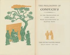 Jeanyee Wong, illustrations for The Philosophy of Confucius, by  James Legge,  Peter Pauper Press, 1953