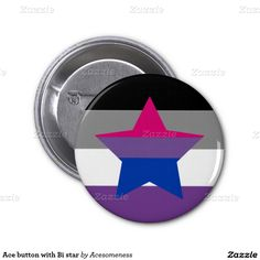 Ace button with Bi star