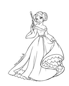 star wars princess leia coloring pages - Google Search