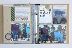 Paul Bunyan & Babe Layout by Heather Nichols for Papertrey Ink (August 2014)