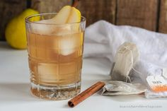 Pears tend to be the overlooked fruit in the fall, but they are so delicious at this time of year. Using pears to make a simple syrup is how this delicious cocktail gets started. Then add a spiced iced tea, some bourbon and beautiful garnish and you've got a cocktail worthy of being served in the highest end bars. Wow your family and friends with this cocktail. You can make just two or a pitcherful, depending on how many you're serving.