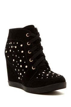 Wanted Frisco Flat Studs Wedge Sneaker by Non Specific on @HauteLook