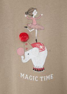 T-shirt algodão imagem -  Criança   MANGO Kids Portugal