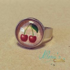 Cherries -this would be cute as a necklace pendant or as earrings