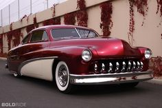 """1951 Mercury.. I can't believe they made as many Desotos with """"teeth"""" are there are in lead sleds!"""