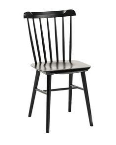 Windsor Style Light Oak Dollhouse Miniature Side Chair or Kitchen Chair