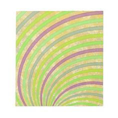 fancy swirl colorful design to brighten the day notepad - fancy gifts cool gift ideas unique special diy customize