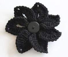 Croc stitch flower pin-spiration : bonitapatterns's Pattern Store on Craftsy | Support Inspiration. Buy Indie.