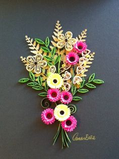 Quilling. Bouquet. By Canan Ersöz.