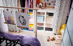 Under Bed Storage Ideas Ikea Lovely A Doorless Walk In Wardrobe that Fits In Your Bedroom Ikea Under Bed Storage, Closet Storage, Bedroom Storage, Diy Walk In Closet, Walk In Wardrobe, Ikea Interior, Best Home Interior Design, Tall Headboard, Headboards For Beds