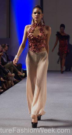 Ariel Cedeno Couture Fashion Week New York Spring 2013 #FashionWeek #Fashion #Couture #AndresAquino #Style #Women #Designer #Model #Flowers #Pants