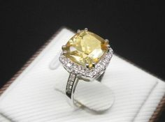Engagement Ring   2.5 Carat Citrine Ring With by stevejewelry, $780.00