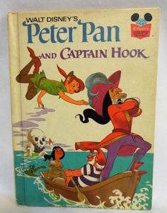 Vintage Peter Pan And Captain Hook Disney's Wonderful World Of Reading Book