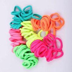 Cotton Elastic Hairbands (100)