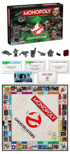 There's something strange in your neighborhood! Save the world from paranormal activity by subduing the vapors, entities and slimers at famous New York locations from the original Ghostbusters movie. #ghostbusters #monopoly #ghosts #slimer #staypuft