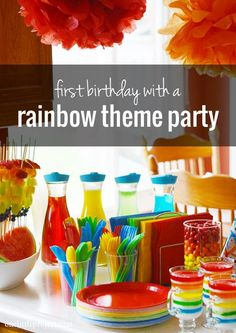 Rainbow First Birthday Party