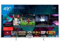 "Smart TV LED 49"" Philips 4K/Ultra HD 49PUG6801/78 - Conversor Digital Wi-Fi 4 HDMI 3 USB DTVi"
