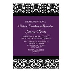 DealsPlum Black Damask Bridal Lunch Invitation Cardstoday price drop and special promotion. Get The best buy