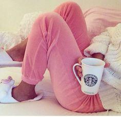 Lazy days and Starbucks Pajamas All Day, Cute Pajamas, Comfy Pajamas, Pyjamas, Pjs, Pilou Pilou, Relaxing Day, Lazy Days, Lazy Sunday