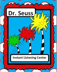 Dr. Seuss Instant Listening Center - Author Study - Daily 5 listen from Smart Teaching on TeachersNotebook.com -  (3 pages)  - This instant listening center is ready for your students. They simply scan the codes with an i-pod, i-pad, or tablet. The stories will be read to them.   Kids love QR codes. You will love how easy this is for you. Just print it off and put it in your list