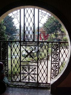 Taiwan. I believe this door is located in the Lin Family Gardens site in greater Taipei.