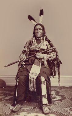 An old photograph of The Flying Bird aka Kah-Kah-Tah-A-Ke-Ah - Two Kettle Chief 1867.