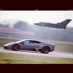 It takes a fighterjet to compete with a Lamborghini Reventon