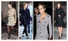 Emma always looks chic and put together, wrapping trenches over every outfit she wears.
