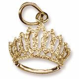 Gold Charm. Tiara for your little princess. Style # 2418  See more gold charms at http://www.charmnjewelry.com/category/n250/gold_charms-Birthday_and_Anniversary_Charms.htm