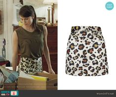 Marnie's leopard print skirt on Girls. Outfit Details: https://wornontv.net/67427/ #Girls