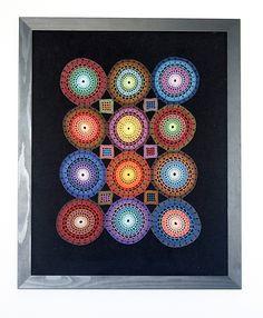 crochet colorful lace