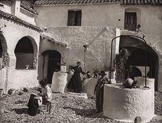 1922 Vintage SPAIN Vejer de la Frontera Peasant Court Garden Photo Art HIELSCHER   eBay