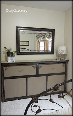 """How to build a """"faux dresser"""" Murphy Bed.  Great space saver and looks great, too! by Joy @ Journey via Remodelaholic"""