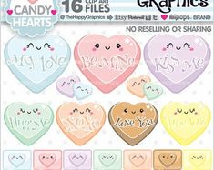 Heart Clipart: Digital Heart Clipart Valentine | Etsy Power Girl, Clipart, Planner Stickers, Art Kawaii, Heart Graphics, Heart Clip Art, Commercial, Blog Backgrounds, Pink Owl