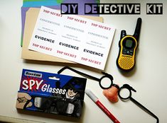Every Girl or Boy reading Nancy Drew or Hardy Boys this summer ought to have their own detective kits!