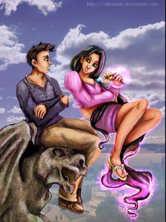Damian (Robin) and mar'i (nightstar) I think