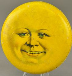DRESDEN MOON FACE CANDY CONTAINER