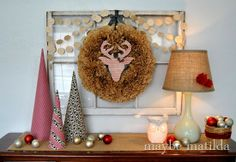 Modern Woodland Christmas Vignette