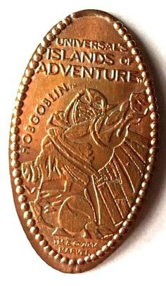 Elongated Pressed Penny Coin HOBGOBLIN - Universal Studios Florida