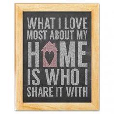 Home Sweet Home Chalkboard Art Canvas Print