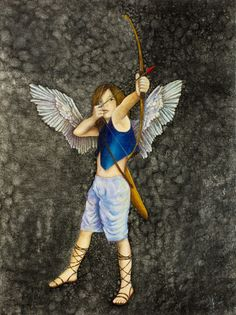 "Archer, 2011  Oil and Silver Leaf on Canvas  24"" x 18  by Blanca Plata"