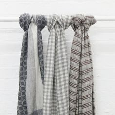 Image of Purna Check Fine Wool Scarf